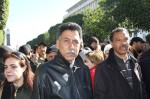 Omar bin Ali, a member of the Tunisian Trade Unions, was present at the demonstration site
