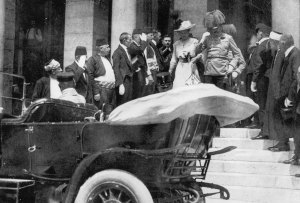 Archduke Franz Ferdinand and his spouse on the day of their assassination