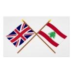 UK and Lebanon flags