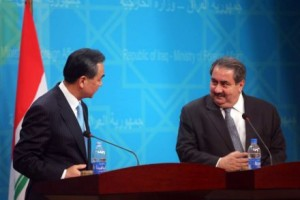 Chinese Foreign Minister Wang Yi meets with Iraqi Prime Minister Nuri al-Maliki
