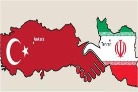 Turkey-Iran flag map