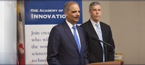Eric Holder, U.S. Attorney General, and Arne Duncan, U.S. Secretary of Education
