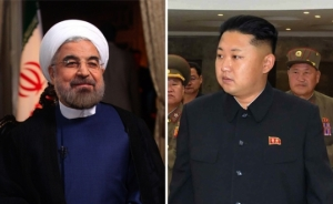Iranian President Hassan Rouhani and North Korean leader Kim Jong-Un
