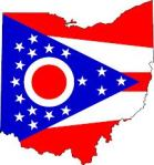 Ohio map flag