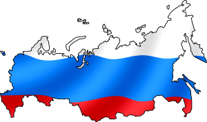 Russia flag map