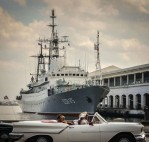 Russian Intelligence gathering ship, Viktor Leonov, docked in Cuba