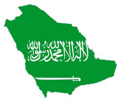 Saudi Arabia flag map 1