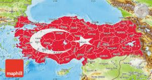 Turkey flag map 2