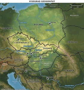 Visegrad 4 map 2