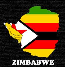 Zimbabwe flag map 1