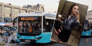 A bus in Istanbul; Ayşegül Terzi (inset)