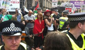 An Israeli theatre company staged a 'silent protest' at Edinburgh Fringe Festival 2014
