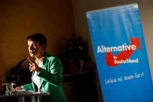 Frauke Petry, chairwoman of the anti-immigration party Alternative for Germany (AfD) attends a pre-election meeting in Berlin, Germany