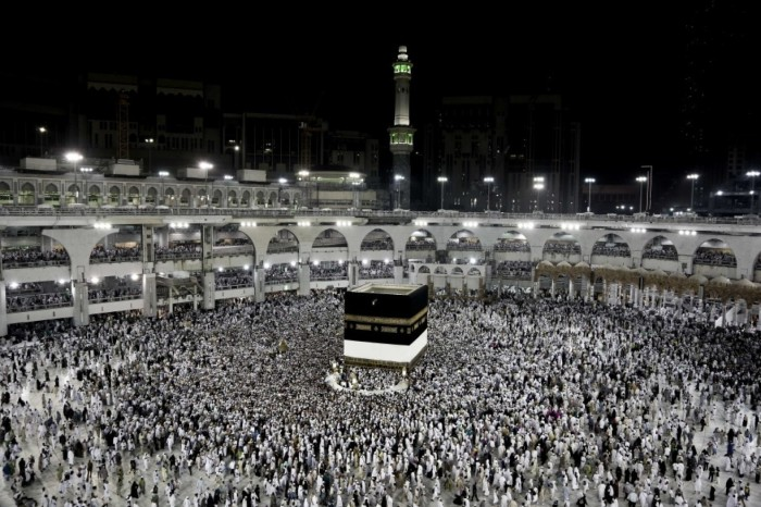 Muslim pilgrims circle the Kaaba, Islam's holiest shrine, at the Grand Mosque in the Muslim holy city of Mecca, Saudi Arabia, on Sept. 7