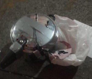 The second device found in the area of the Chelsea bombing.