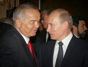 Uzbekistan's President Islam Karimov and his Russian counterpart Vladimir Putin in 2006