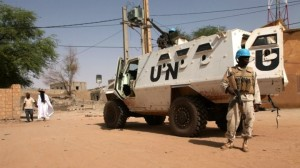 A UN armored personnel carrier in Timbuktu on September 19, 2016