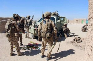 Afghan Special Forces prepare for battle with the Taliban outside of Lashkar Gah in Helmand Province.