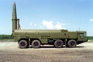 An Iskander-E short-range ballistic missile launcher
