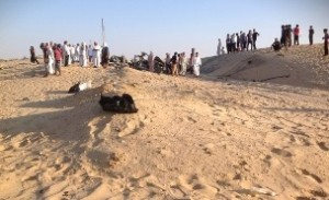 Scene of the attack in the Sinai