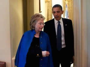 Secretary Clinton with President Obama