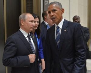 Russian President Vladimir Putin and U.S. President Barack Obama