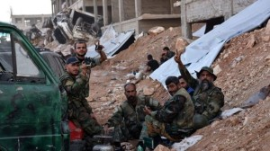 The Syrian army said it took the strategic 1070 Apartments district on Tuesday.